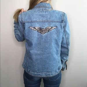 Harley- Davidson Motorcycle Denim Jacket sz M